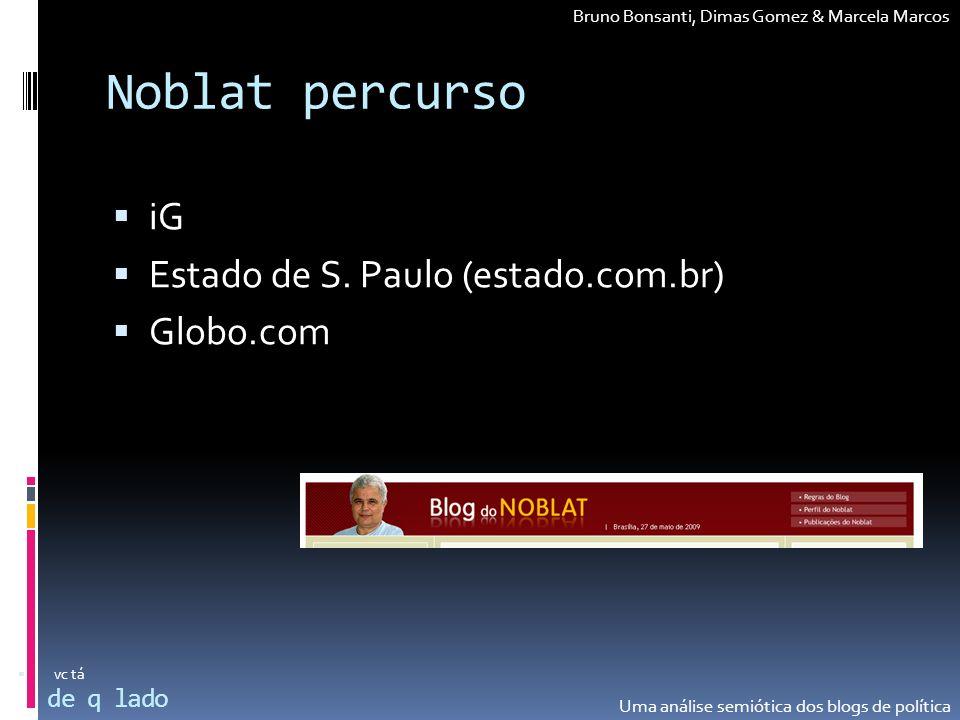 Noblat percurso iG Estado de S. Paulo (estado.com.br) Globo.com