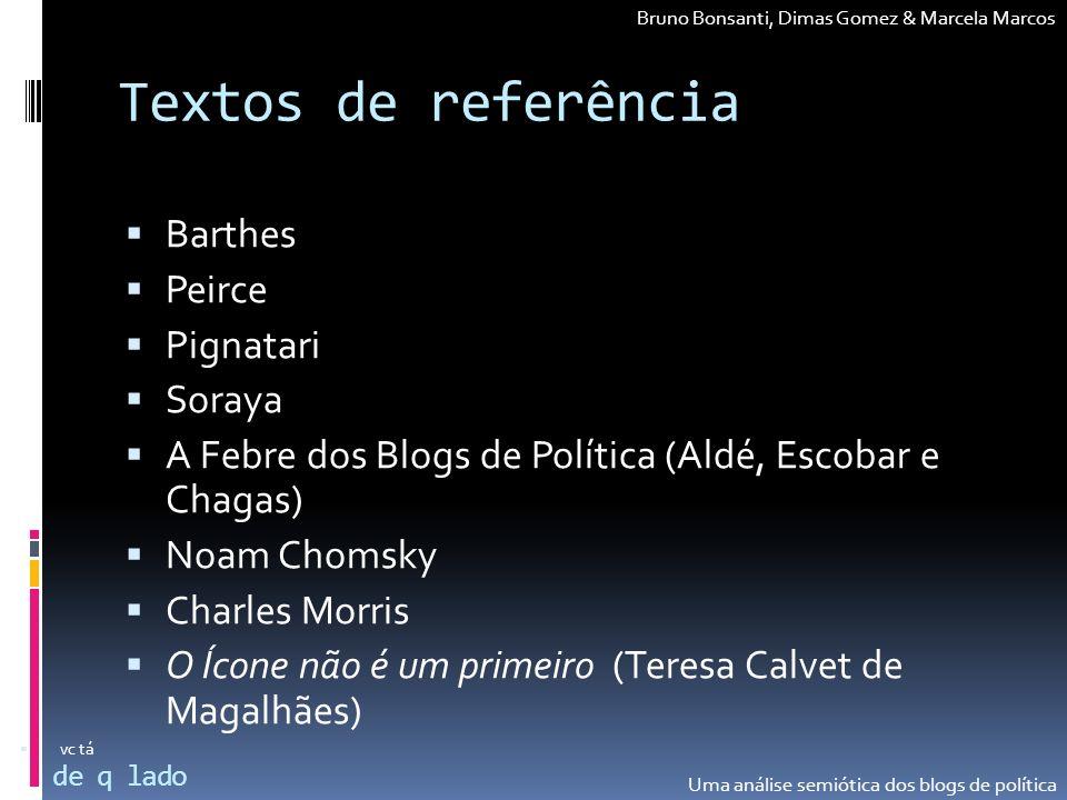 Textos de referência Barthes Peirce Pignatari Soraya