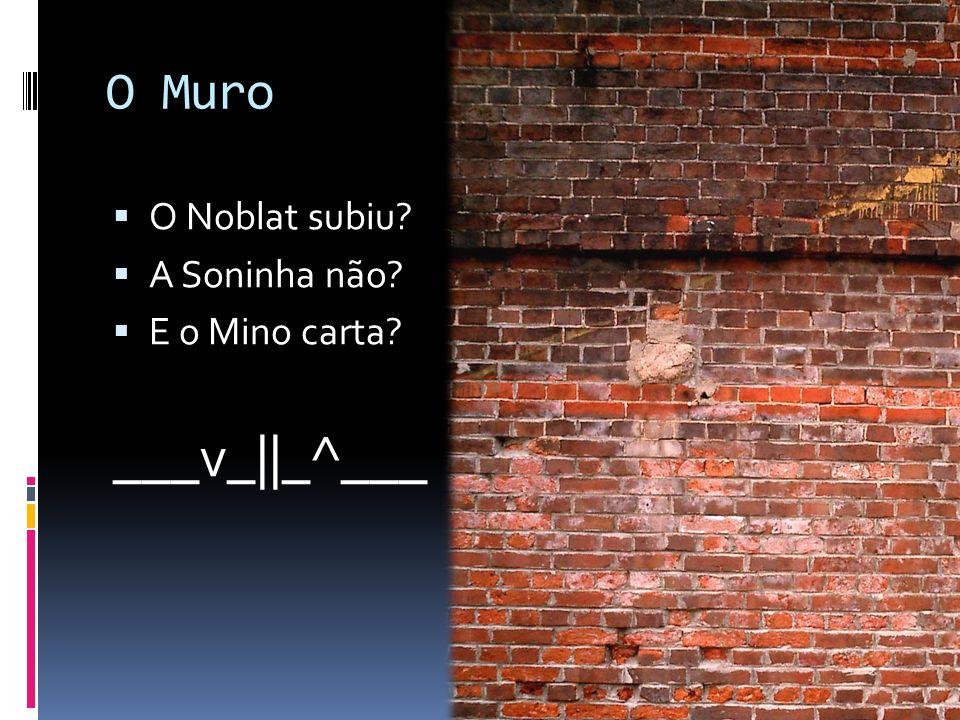 O Muro O Noblat subiu A Soninha não E o Mino carta ___v_||_^___