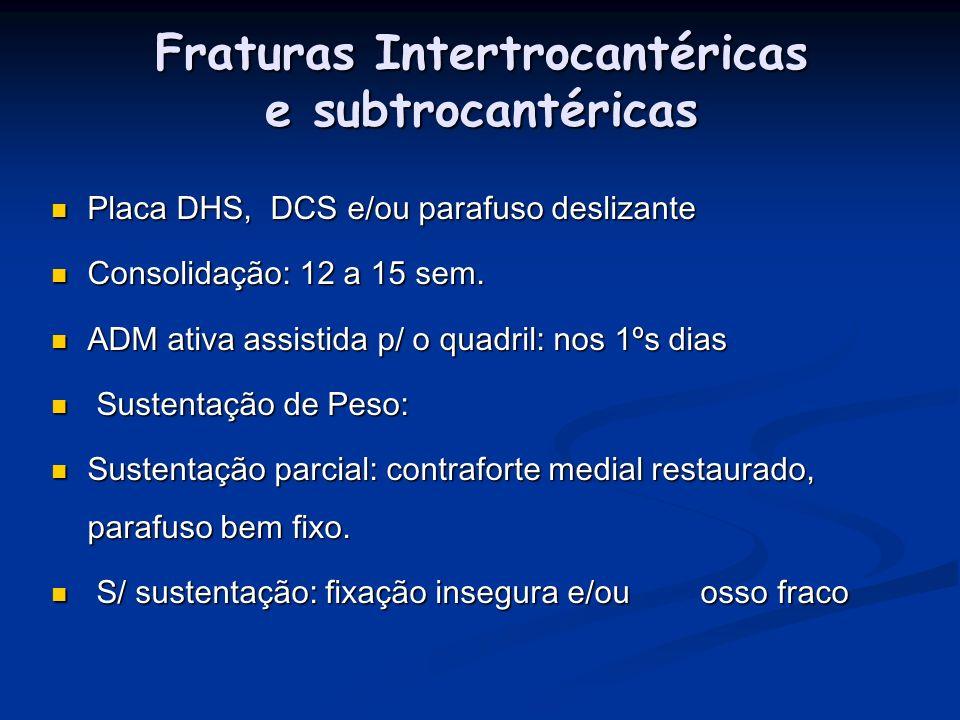 Fraturas Intertrocantéricas e subtrocantéricas
