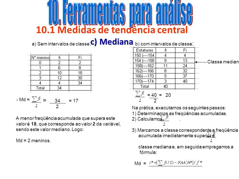 10.1 Medidas de tendência central c) Mediana