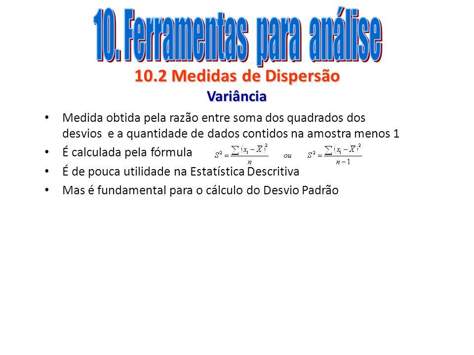 10.2 Medidas de Dispersão Variância