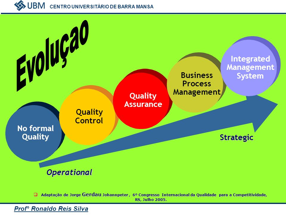 Evoluçao Integrated Management Business System Process Management