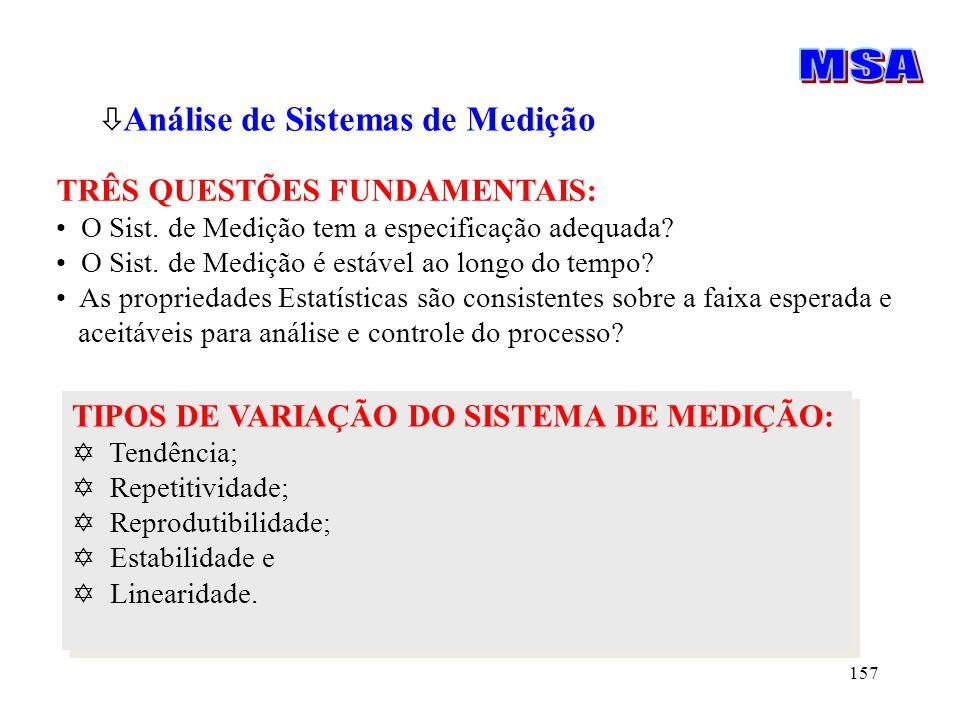 MSA Análise de Sistemas de Medição TRÊS QUESTÕES FUNDAMENTAIS: