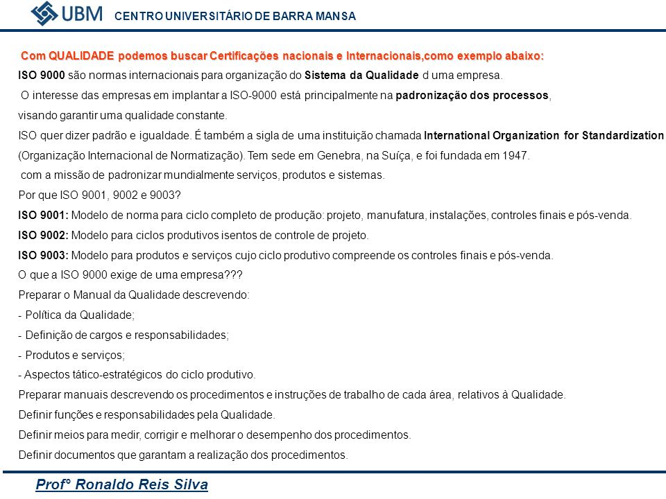 Prof° Ronaldo Reis Silva