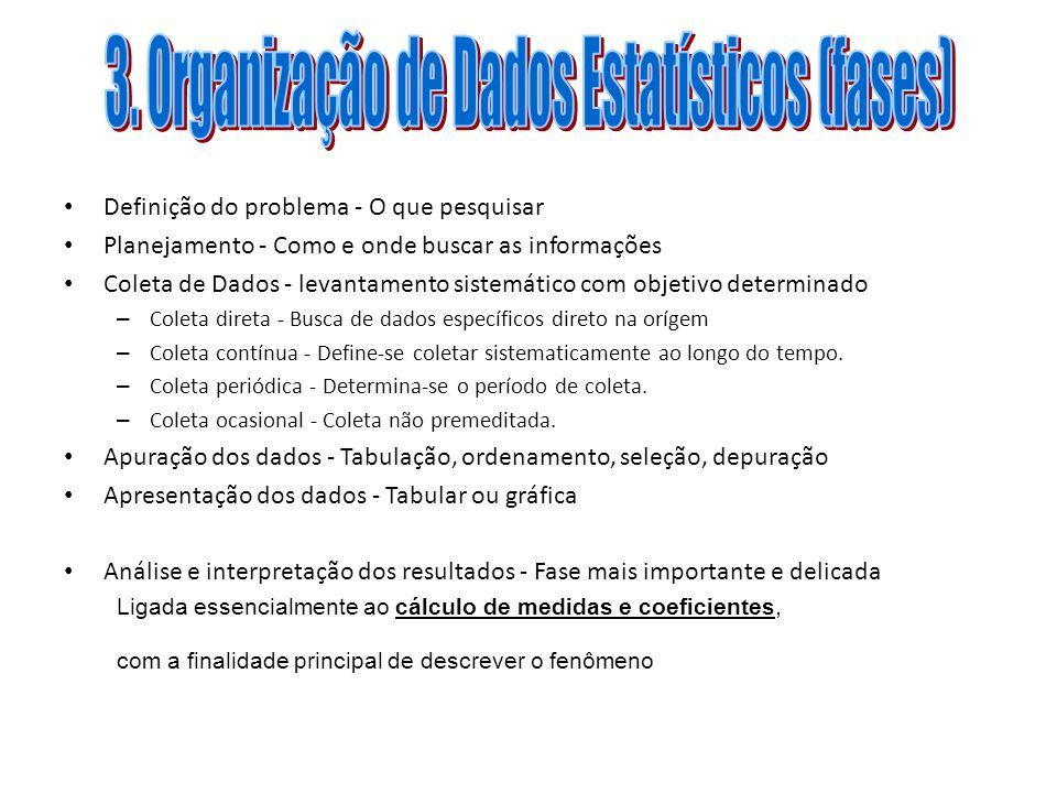 3. Organização de Dados Estatísticos (fases)