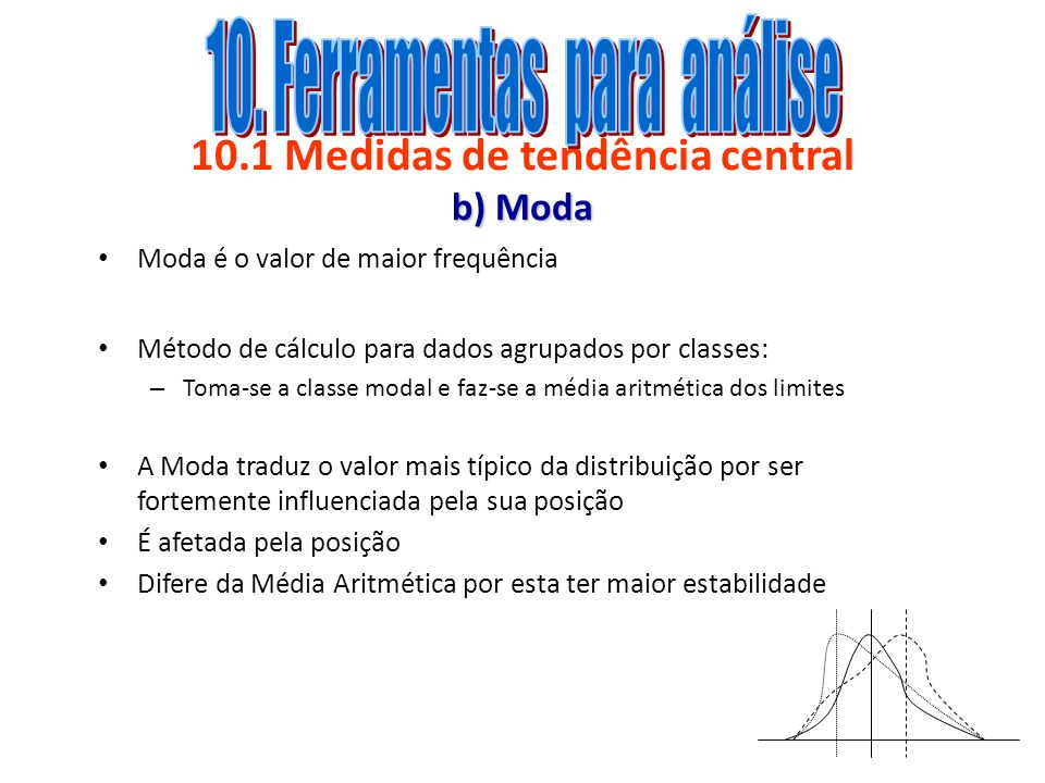 10.1 Medidas de tendência central b) Moda