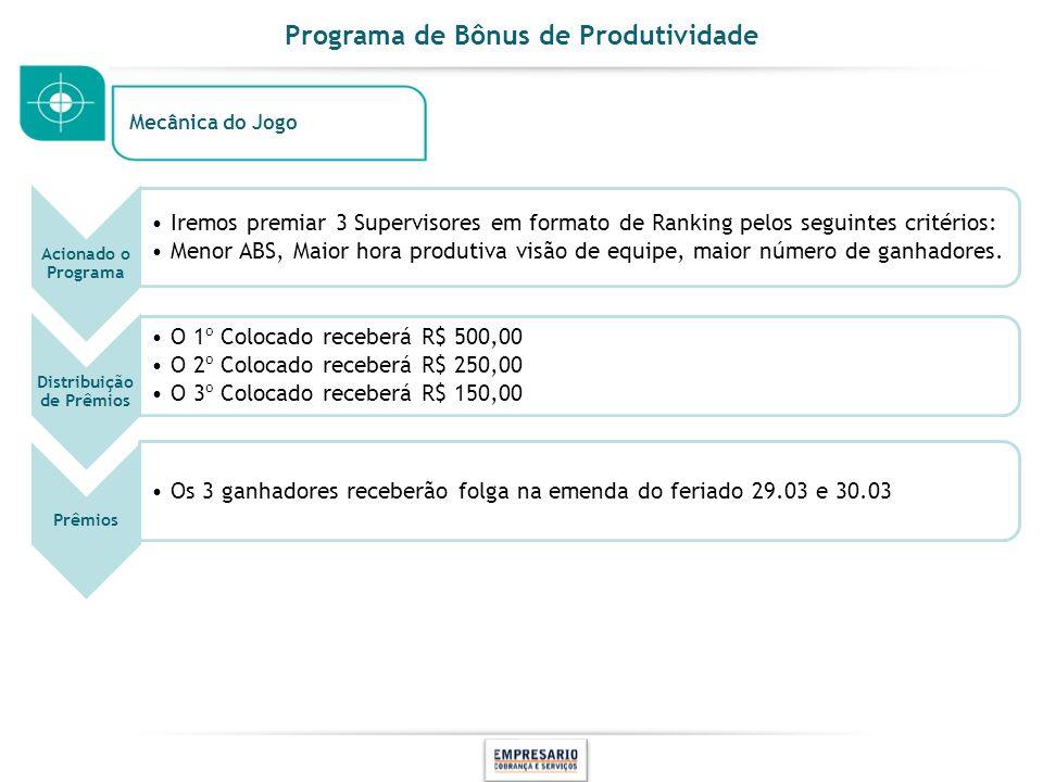 Programa de Bônus de Produtividade