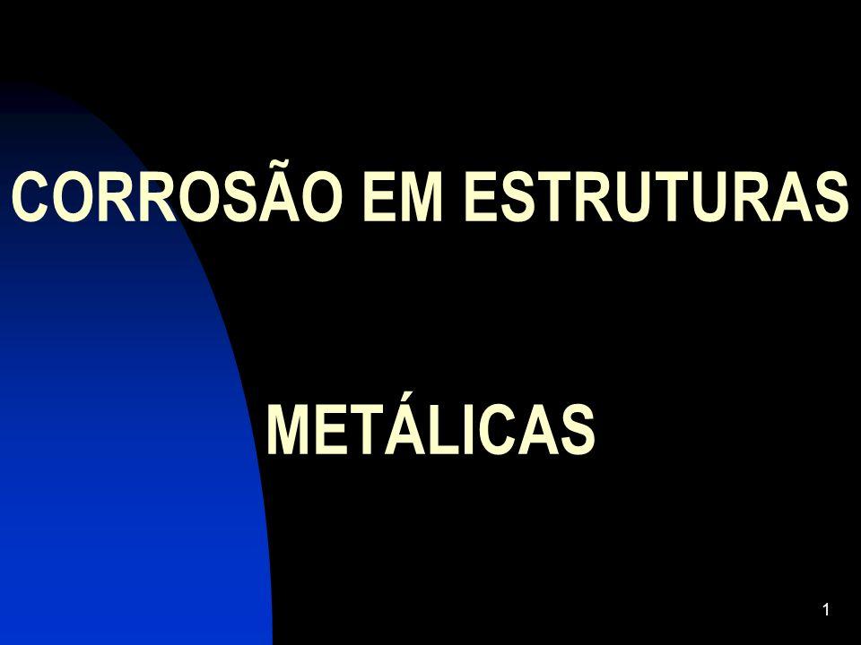 CORROSÃO EM ESTRUTURAS METÁLICAS