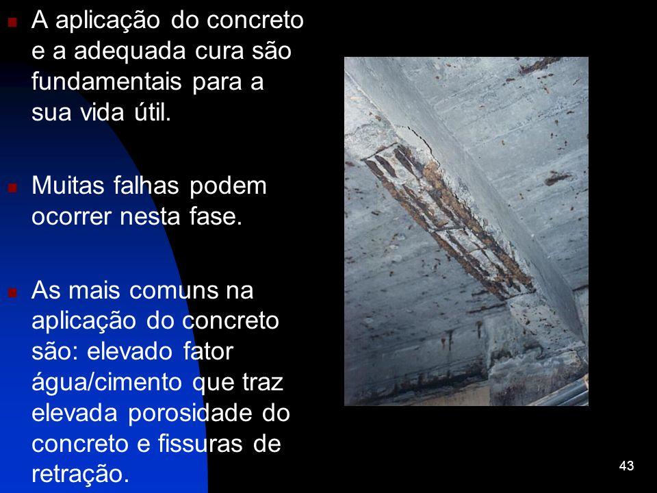 A aplicação do concreto e a adequada cura são fundamentais para a sua vida útil.