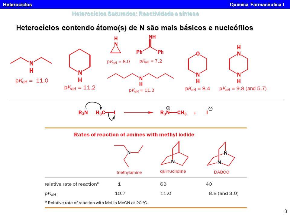 Heterocíclos Saturados: Reactividade e síntese
