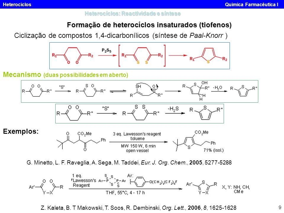 Heterocíclos: Reactividade e síntese