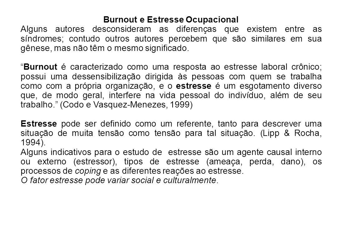 Burnout e Estresse Ocupacional