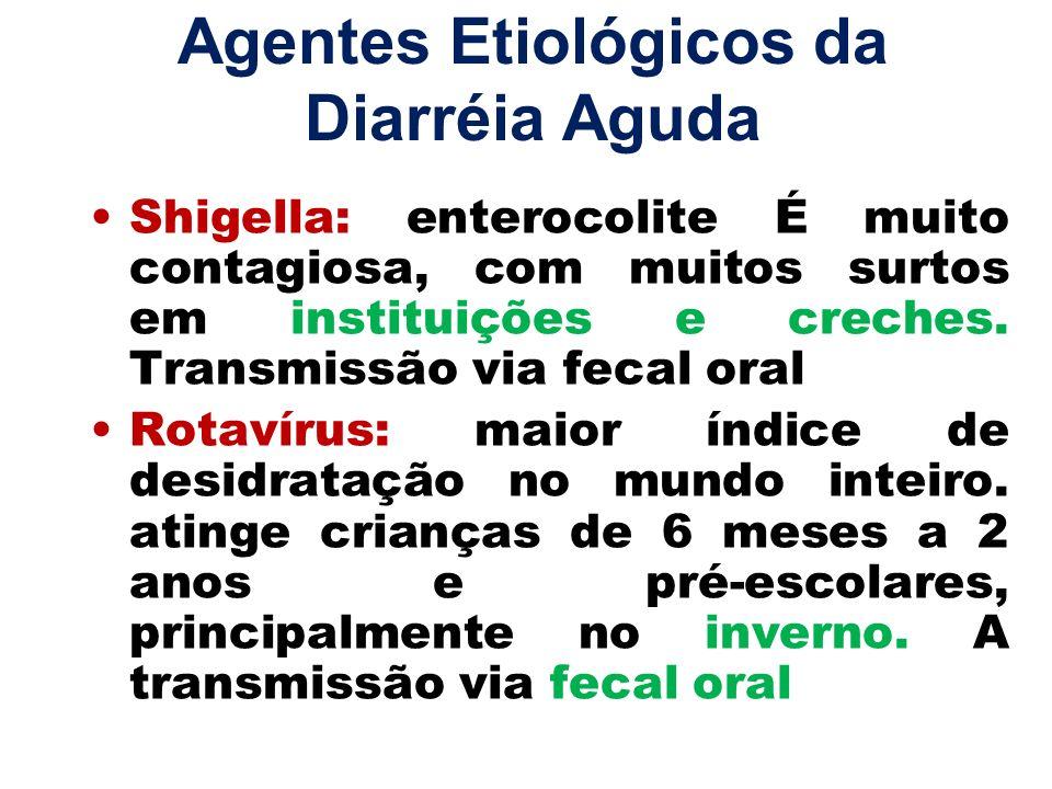 Agentes Etiológicos da Diarréia Aguda