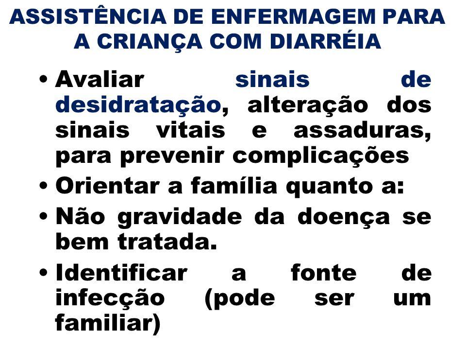 ASSISTÊNCIA DE ENFERMAGEM PARA A CRIANÇA COM DIARRÉIA