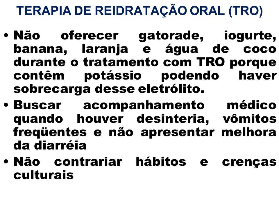 TERAPIA DE REIDRATAÇÃO ORAL (TRO)