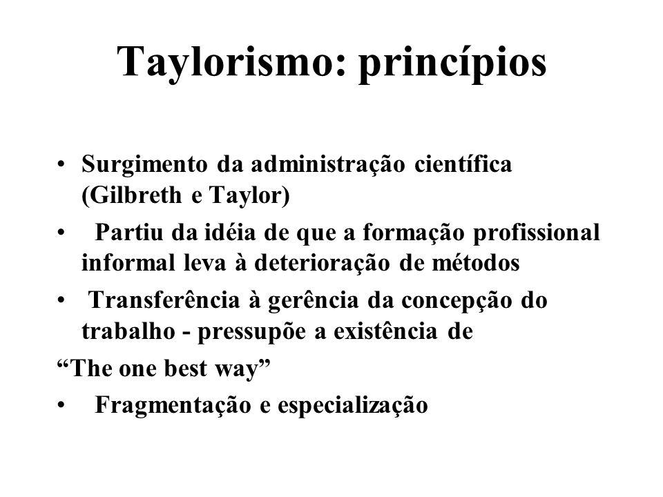 Taylorismo: princípios