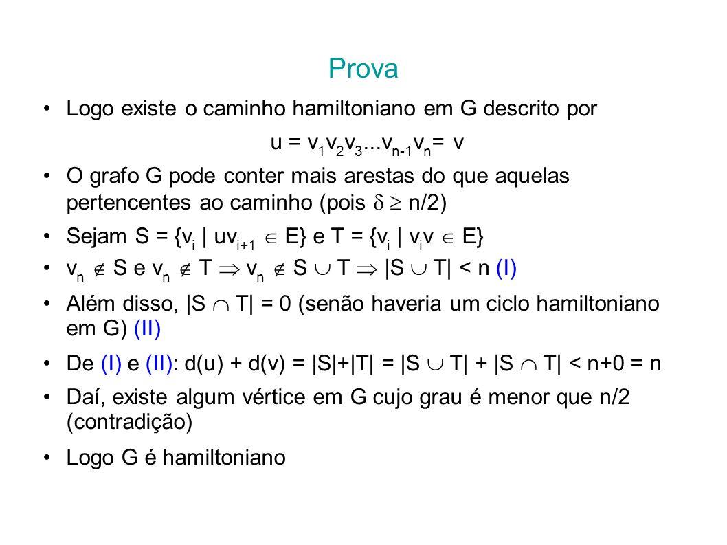 Prova Logo existe o caminho hamiltoniano em G descrito por