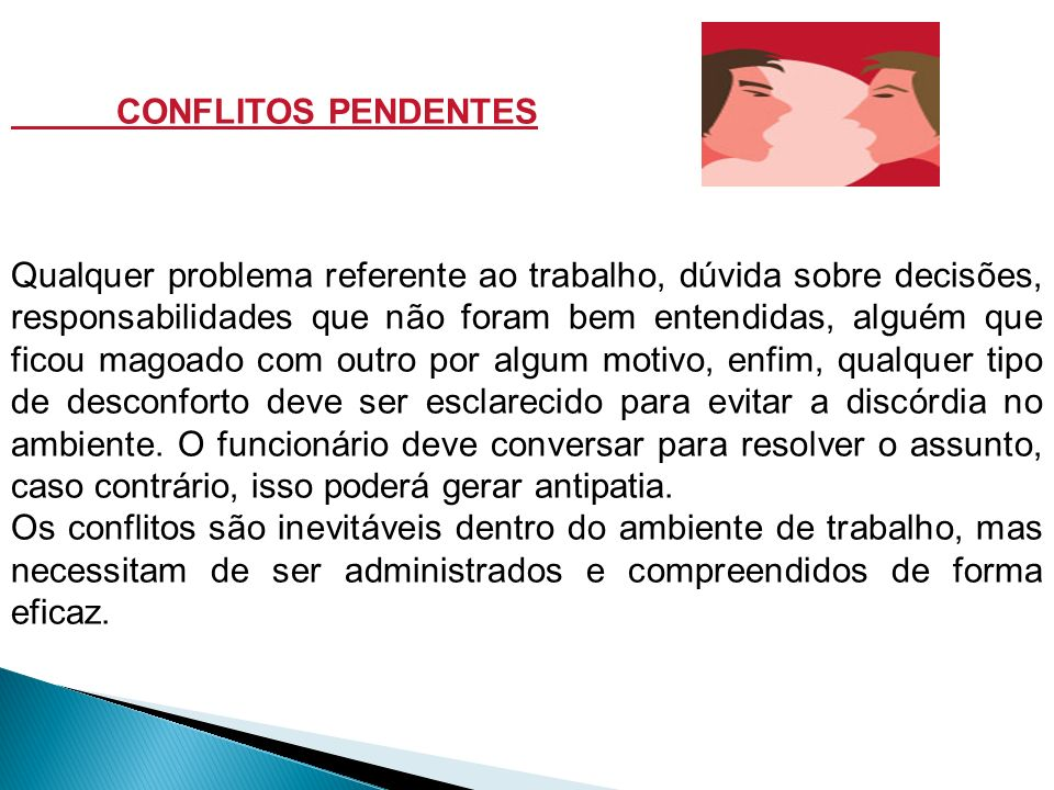 CONFLITOS PENDENTES