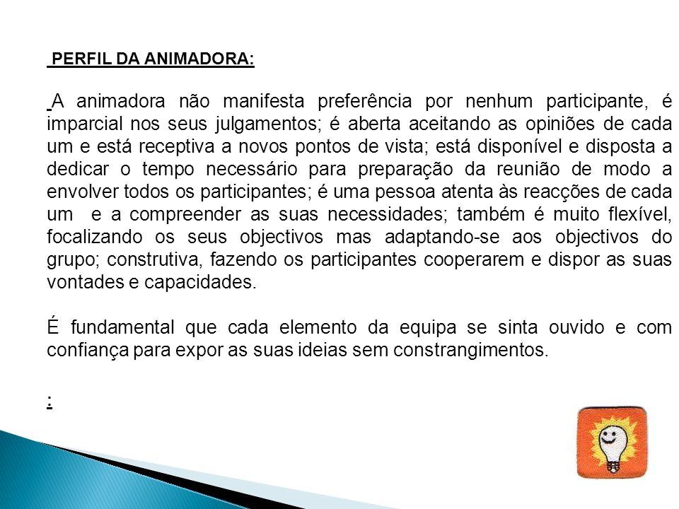 PERFIL DA ANIMADORA: