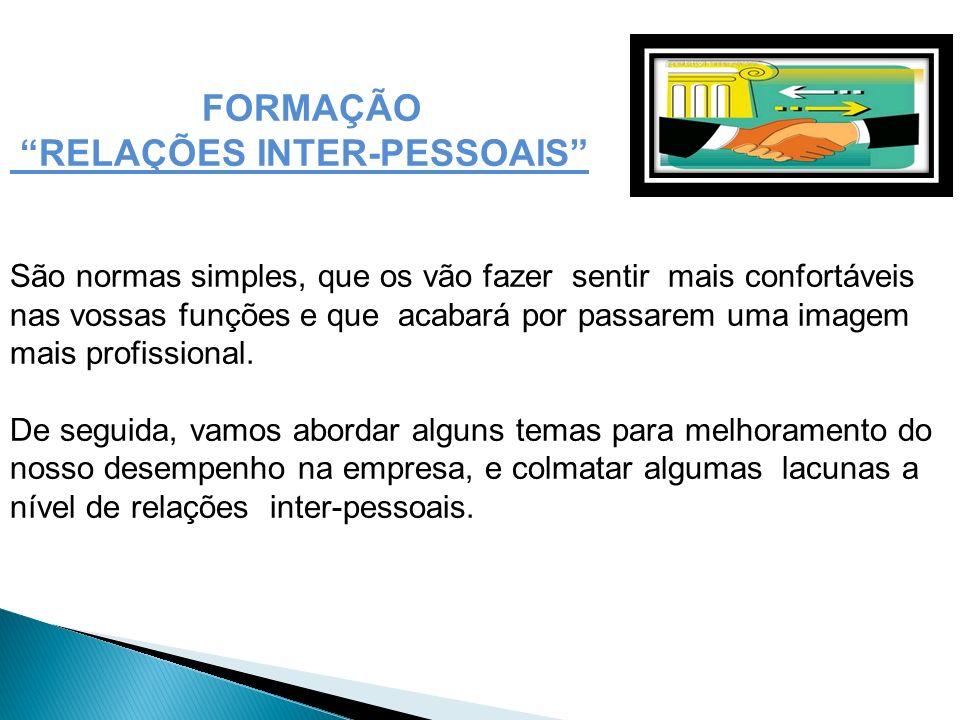 RELAÇÕES INTER-PESSOAIS
