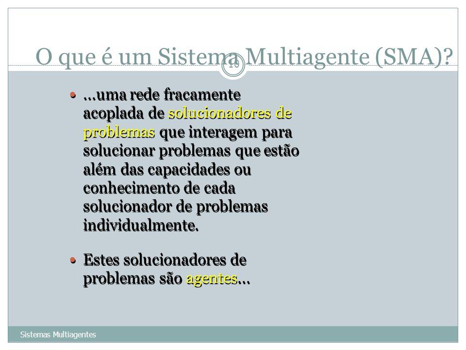 O que é um Sistema Multiagente (SMA)