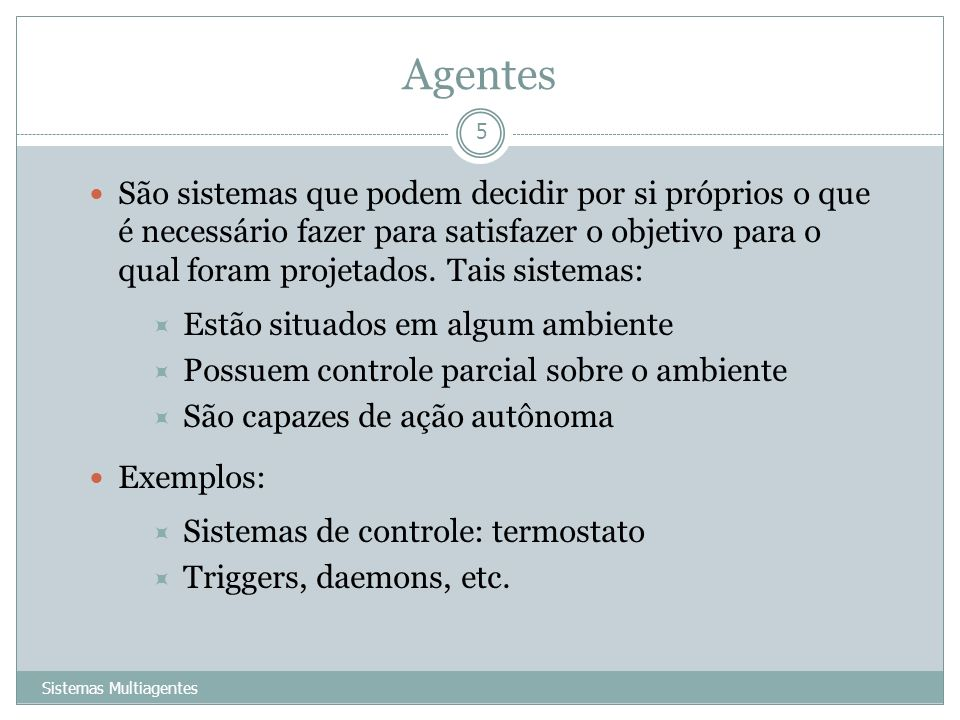 Agentes
