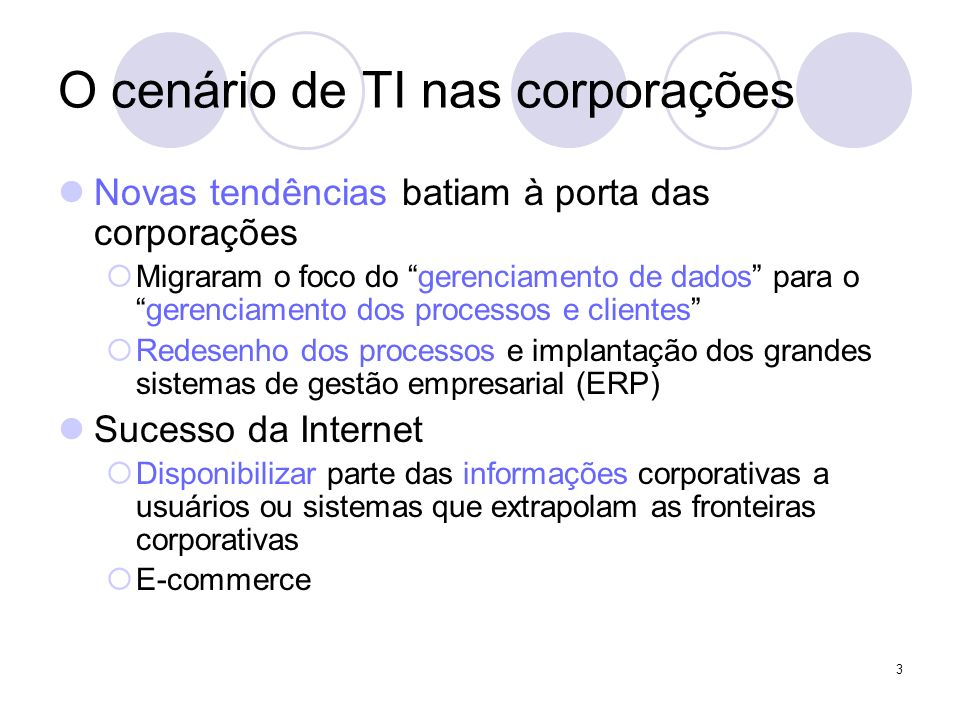 O cenário de TI nas corporações