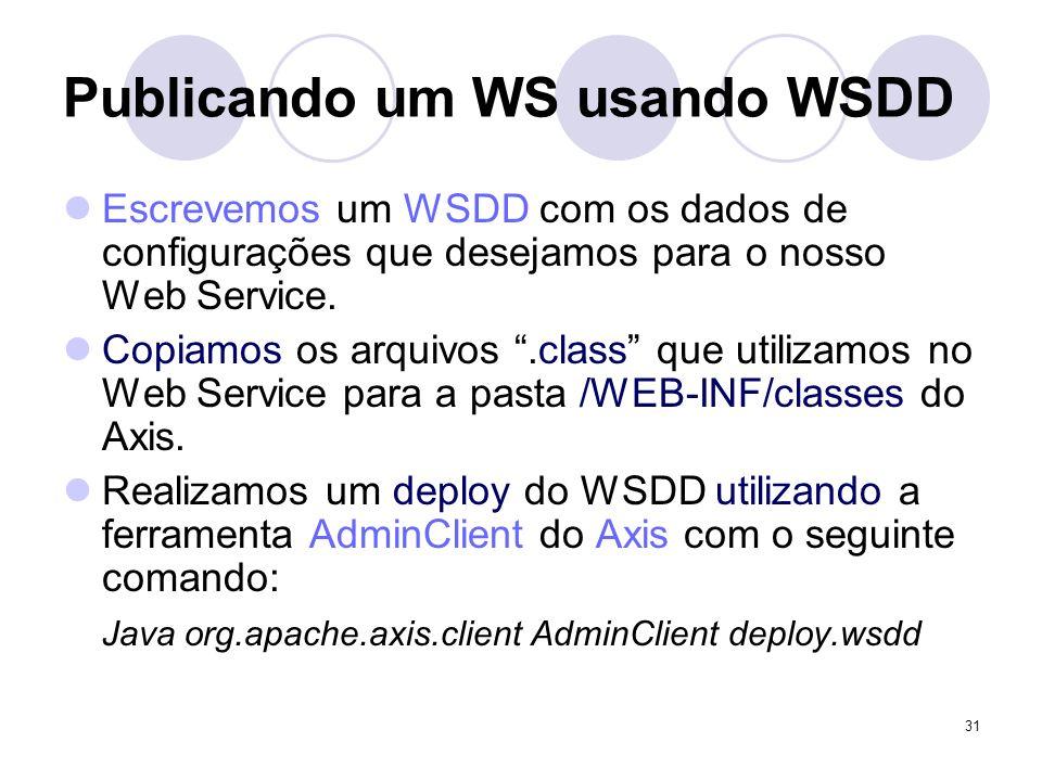 Publicando um WS usando WSDD