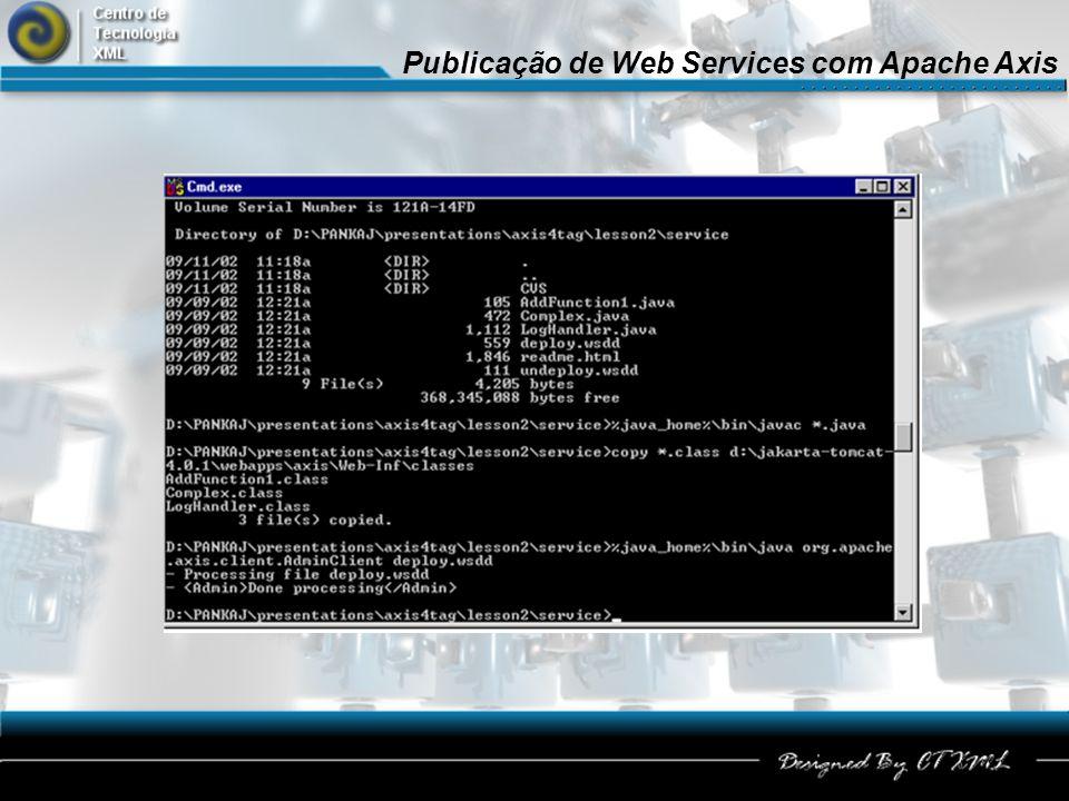 Publicação de Web Services com Apache Axis