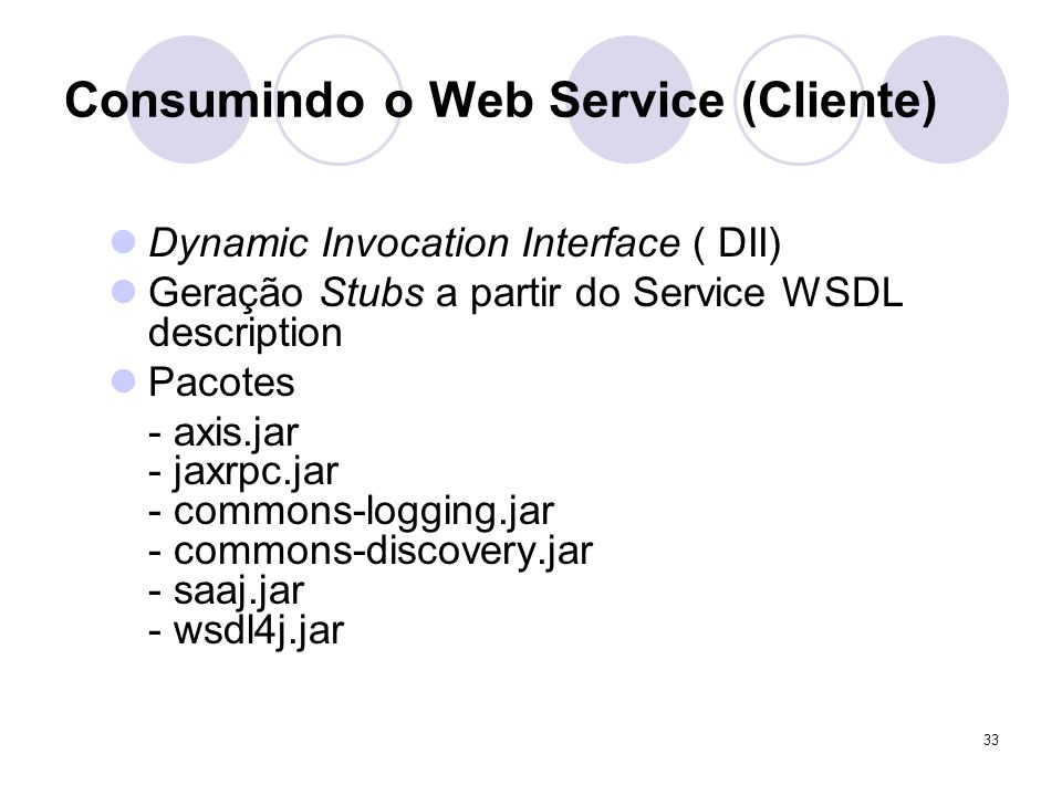 Consumindo o Web Service (Cliente)