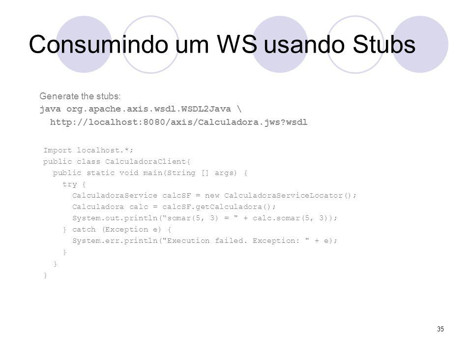 Consumindo um WS usando Stubs