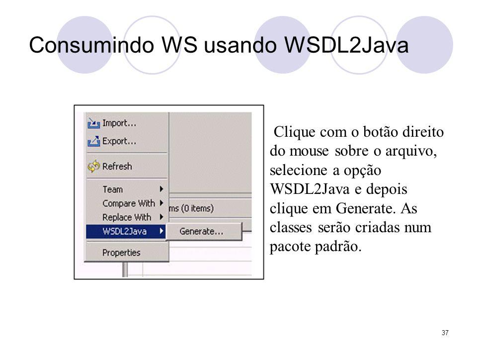 Consumindo WS usando WSDL2Java