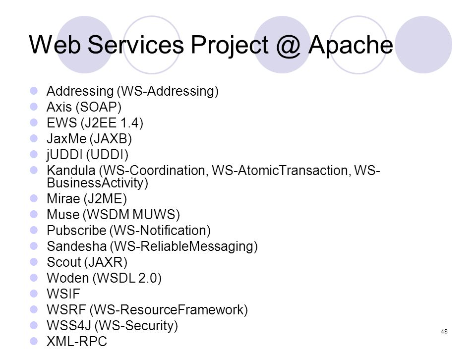 Web Services Project @ Apache