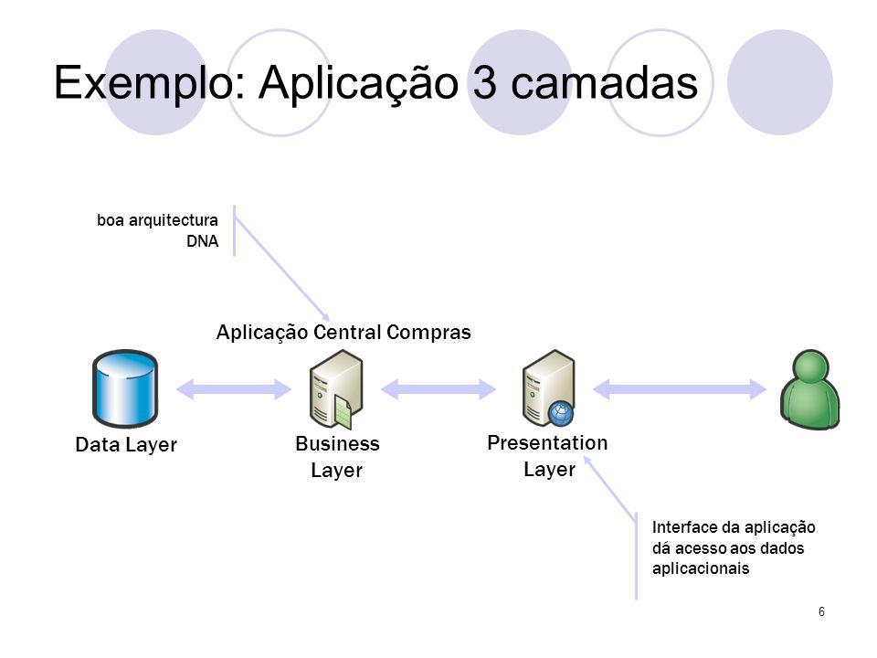 Exemplo: Aplicação 3 camadas