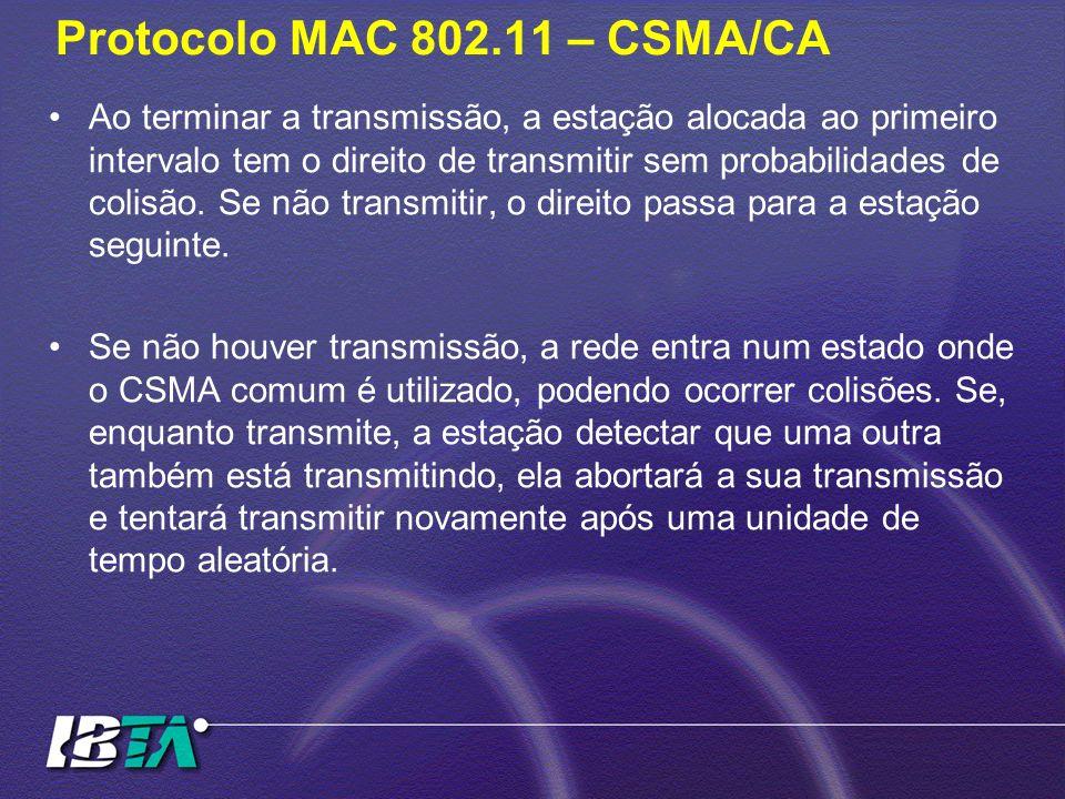 Protocolo MAC 802.11 – CSMA/CA