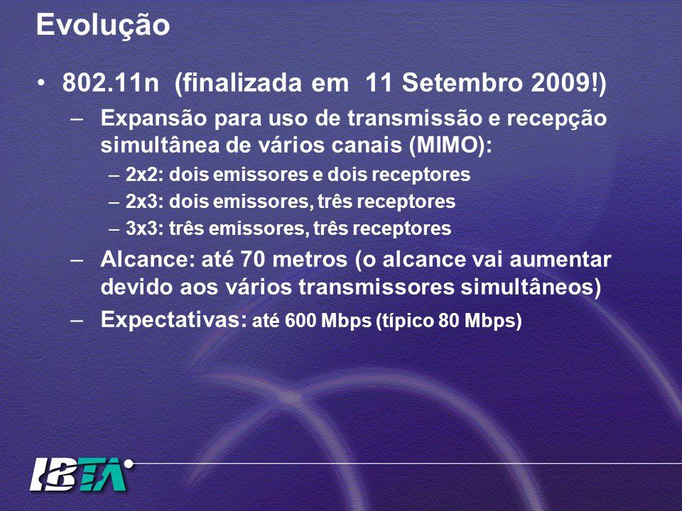 Evolução 802.11n (finalizada em 11 Setembro 2009!)