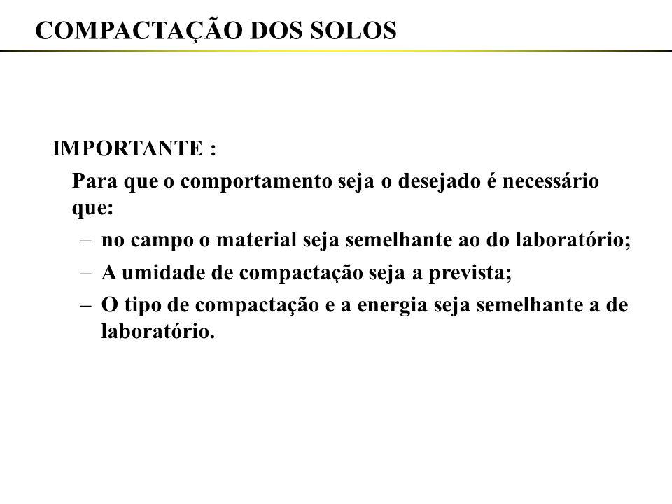 COMPACTAÇÃO DOS SOLOS IMPORTANTE :