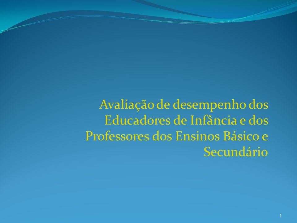 Avaliação de desempenho dos Educadores de Infância e dos Professores dos Ensinos Básico e Secundário