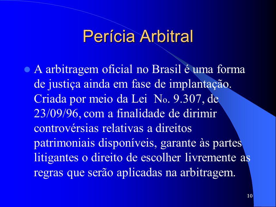 Perícia Arbitral