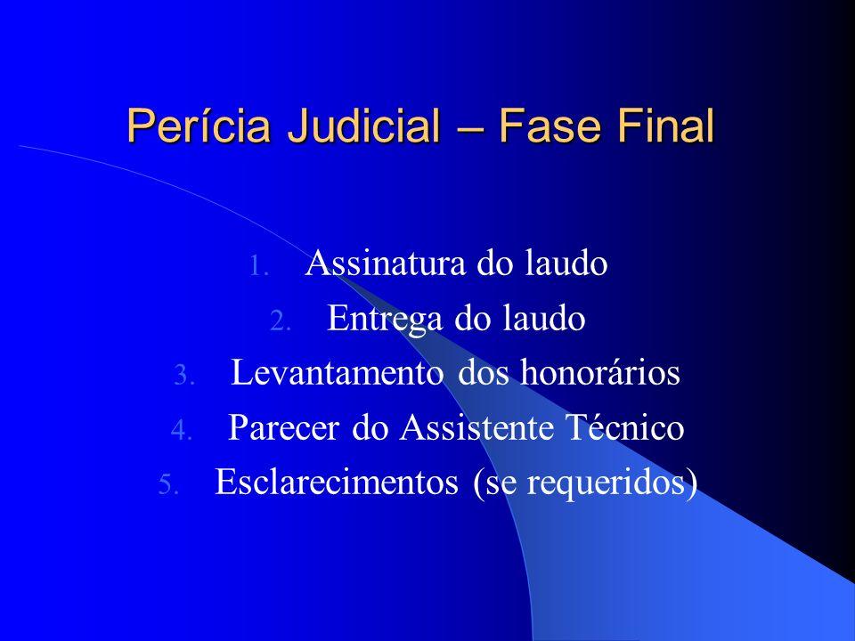 Perícia Judicial – Fase Final