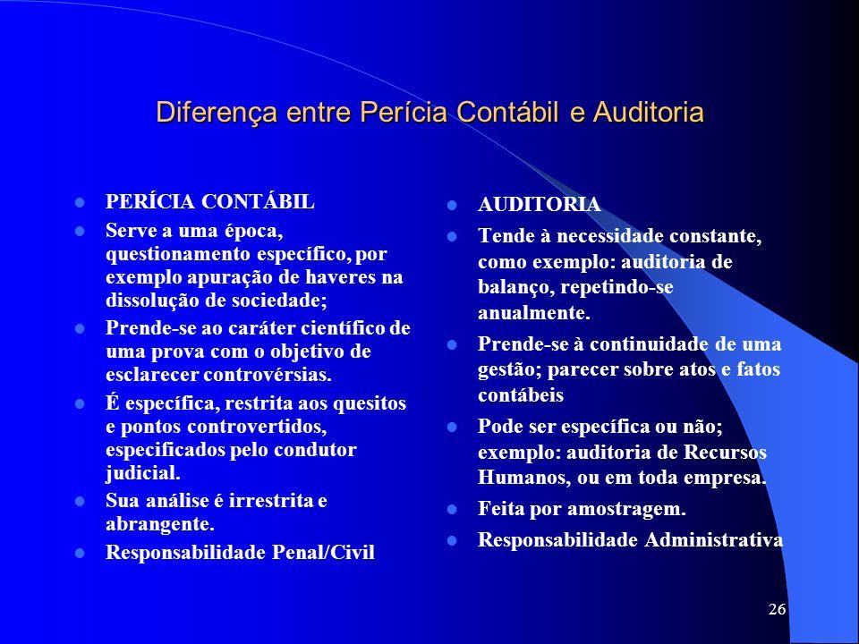 Diferença entre Perícia Contábil e Auditoria