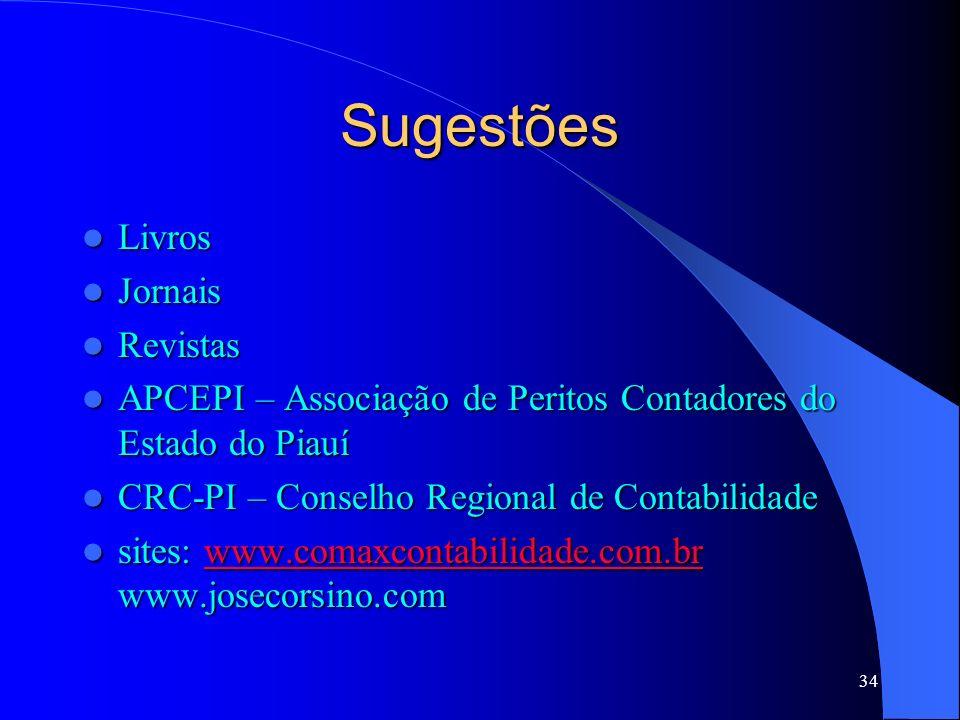 Sugestões Livros Jornais Revistas