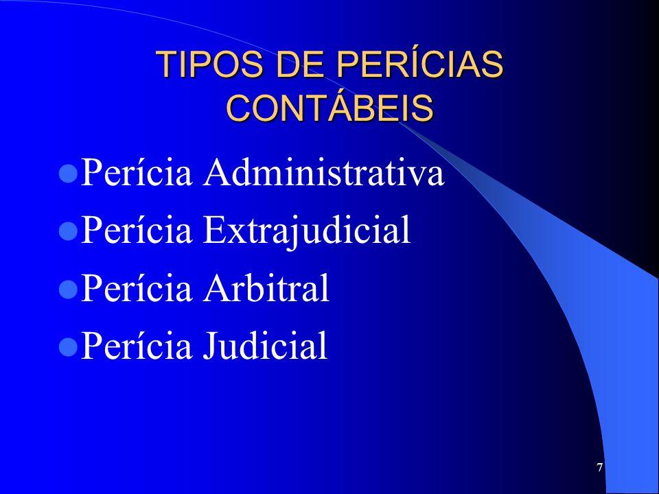 TIPOS DE PERÍCIAS CONTÁBEIS