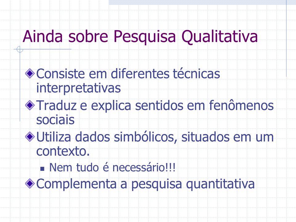 Tipos de pesquisa qualitativa e quantitativa