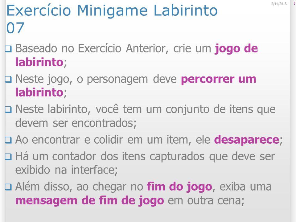 Exercício Minigame Labirinto 07