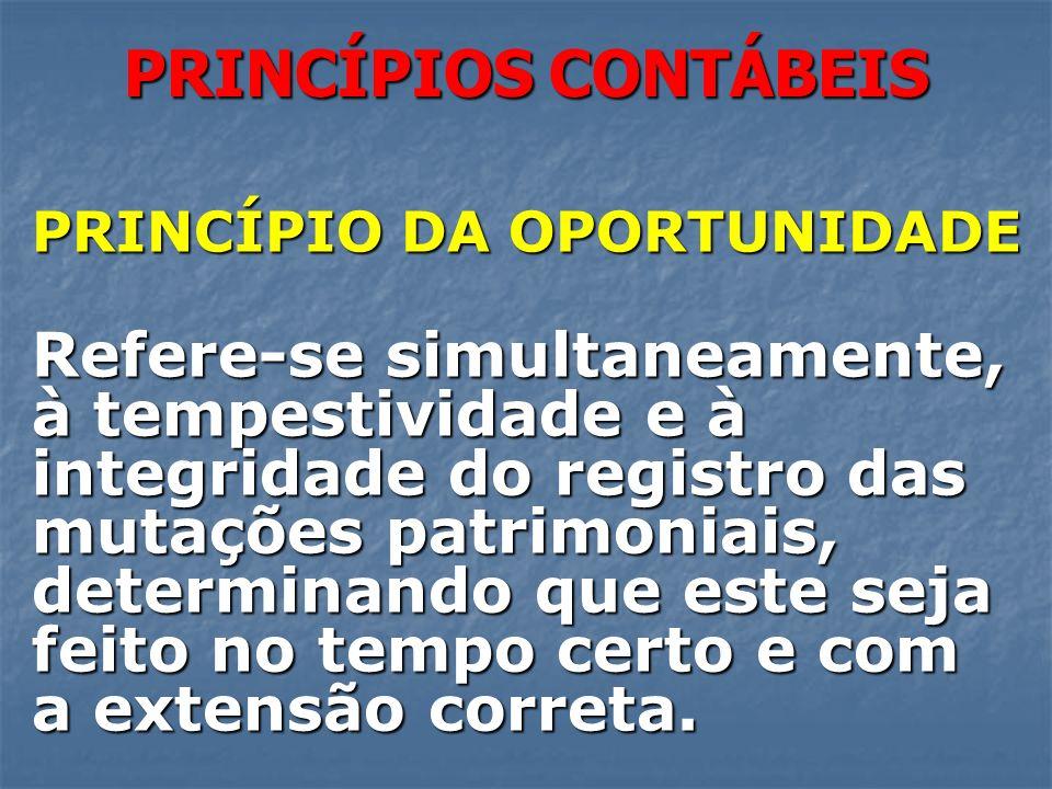 PRINCÍPIO DA OPORTUNIDADE