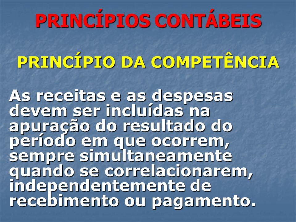 PRINCÍPIO DA COMPETÊNCIA