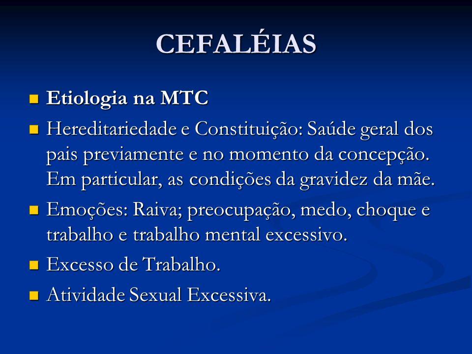 CEFALÉIAS Etiologia na MTC