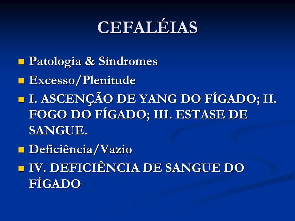 CEFALÉIAS Patologia & Síndromes Excesso/Plenitude